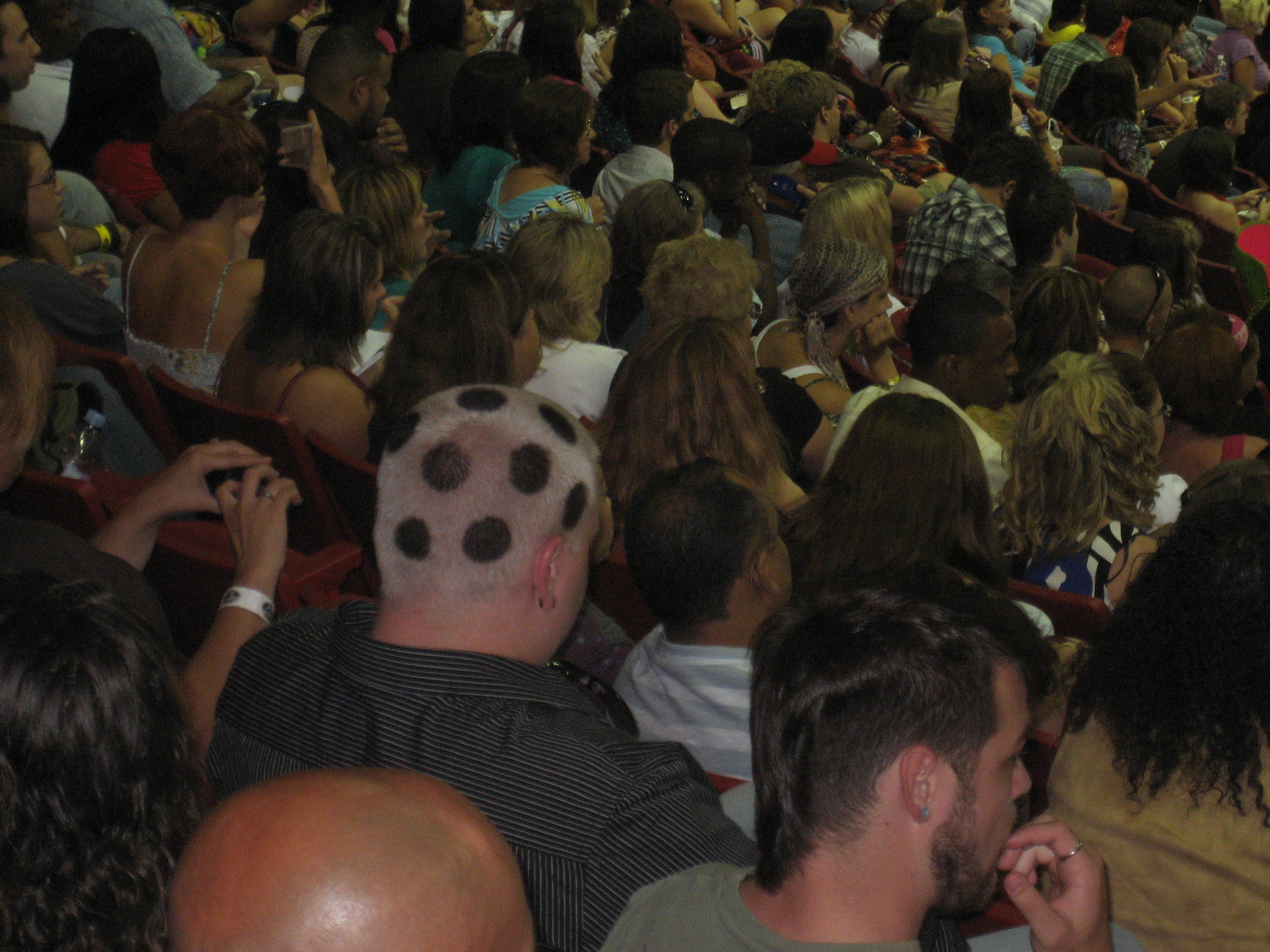 Polka dot head ranked amongst the attention-cravers (Day 3 pic)