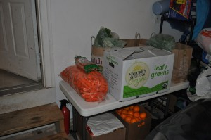 our organic veggie juicing stockpile
