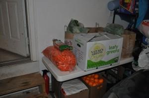 our organic veggie juicing stockpile