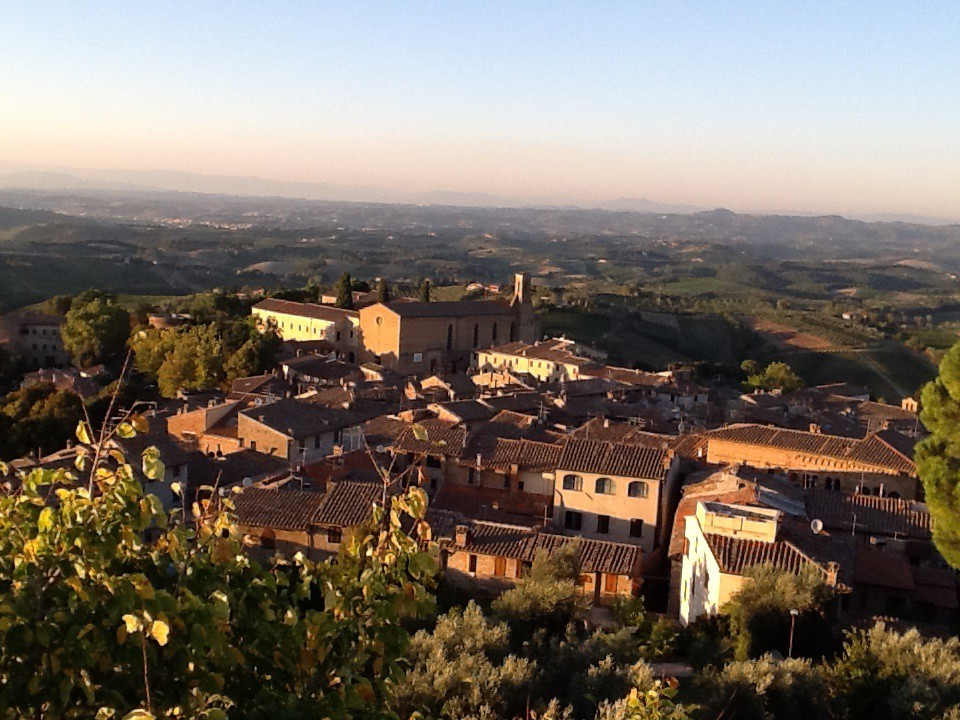 chianti region at sunset