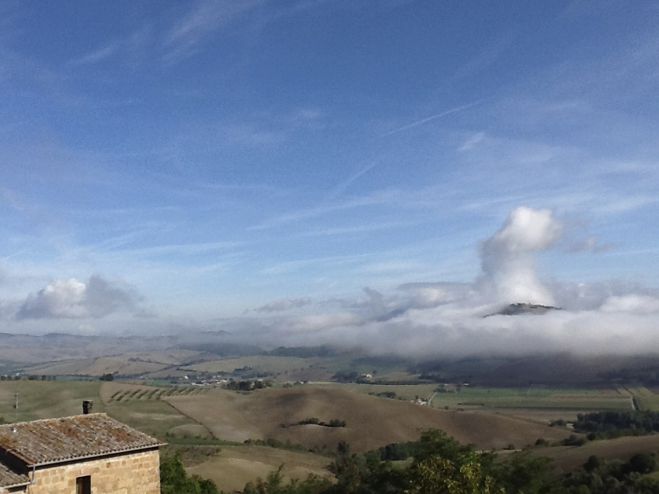 The view from Procena Castle