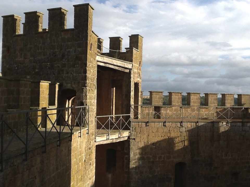 On the top floor of the castle