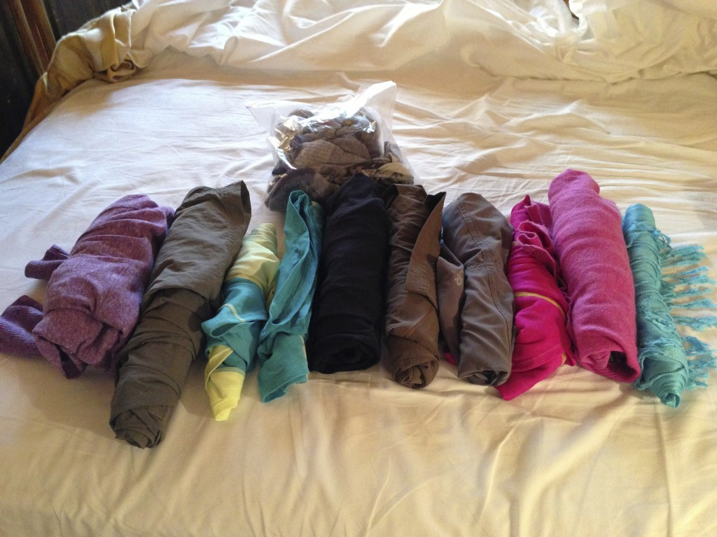 my clothes for a month