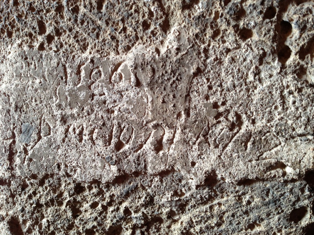 markings on walls from 1500's