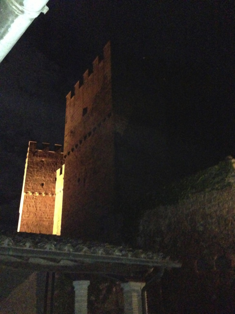 This is the view of the Castle Tower from  my porch